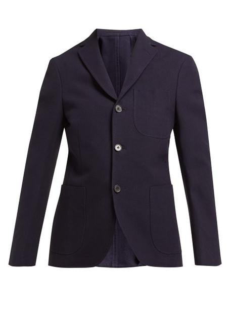 blazer navy cotton jacket