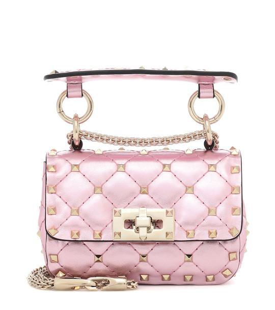Valentino Garavani Rockstud Spike Micro crossbody bag in pink