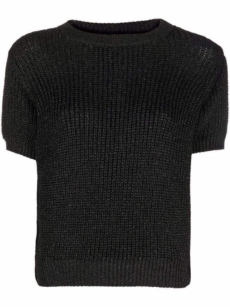 A.P.C. A.P.C. Audrey short-sleeve knitted T-shirt - Black