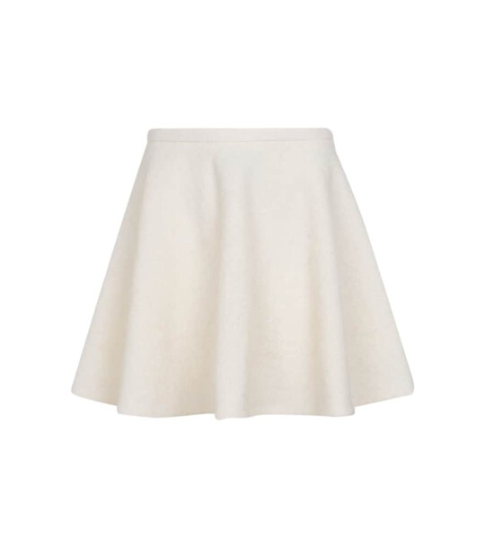 Valentino Wool and mohair-blend miniskirt in white