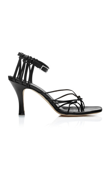 Christopher Esber Valetta Leather Sandals Size: 37 in black
