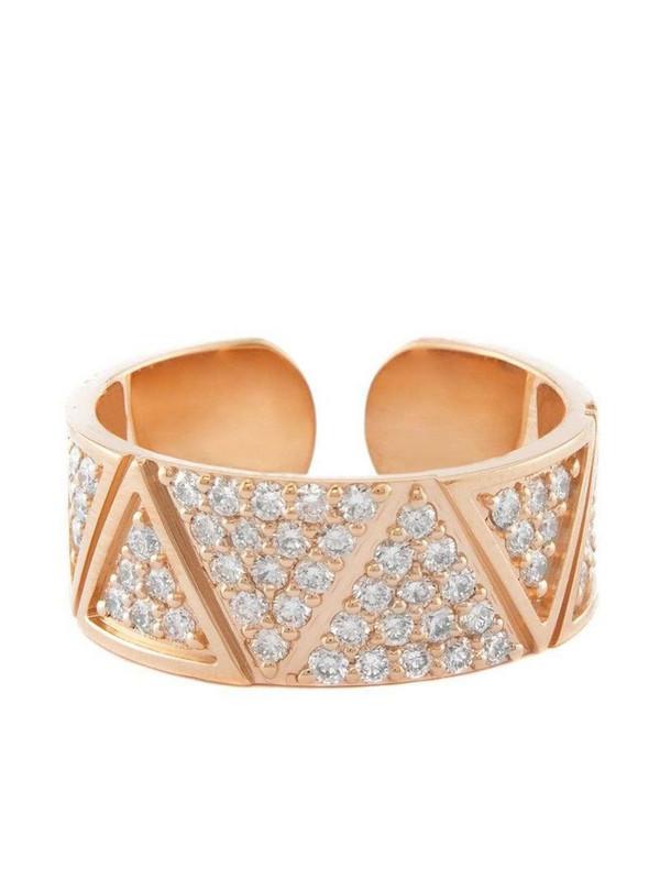 Alessa 18kt rose gold diamond pavé Elixir ring in pink