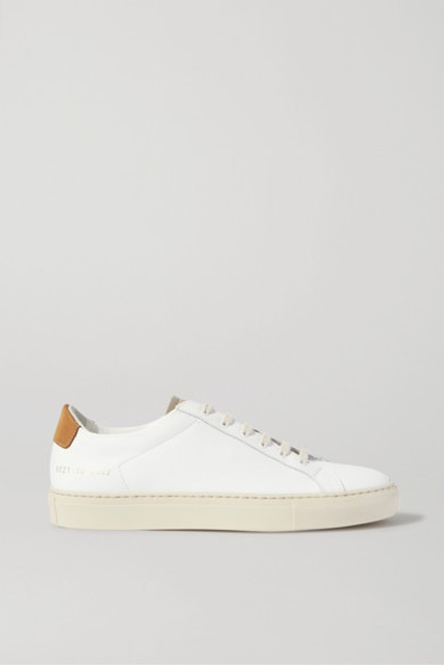 Common Projects - Retro Low Suede-trimmed Leather Sneakers - White