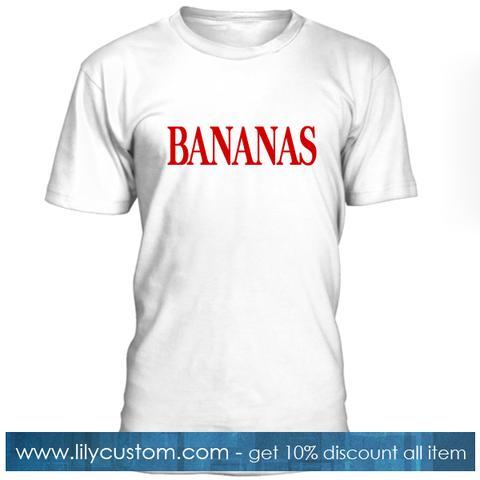 Bananas Font Tshirt
