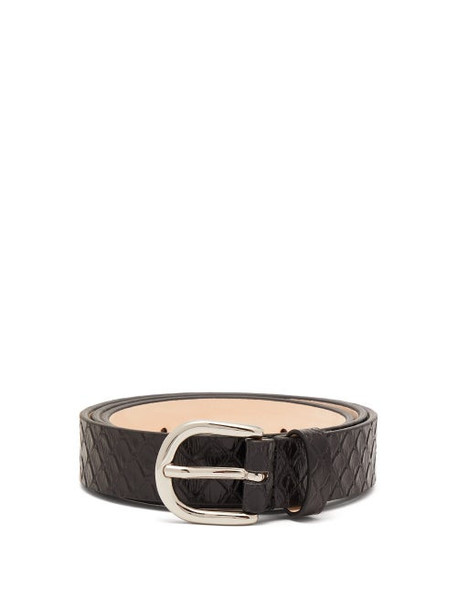 Isabel Marant - Zap Snakeskin Effect Leather Belt - Womens - Black
