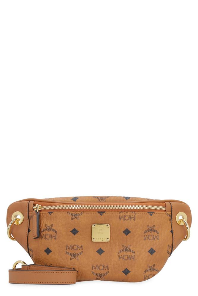 MCM Visetos Belt Bag in brown