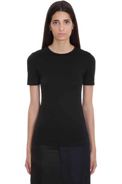 Jil Sander T-shirt In Black Cotton