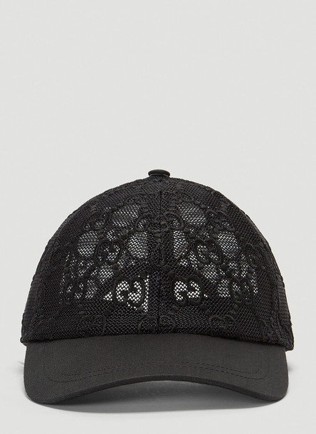 Gucci GG Mesh Hat in Black size M