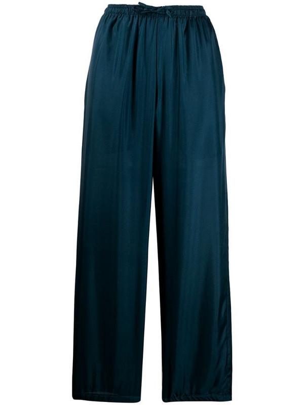 Katharine Hamnett London Lucia silk trousers in blue