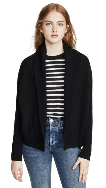 Vince Shawl Cashmere Cardigan in black