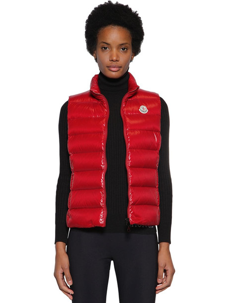 MONCLER Ghany Nylon Down Vest in red