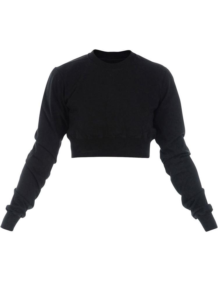 DRKSHDW Rick Owens Crop Sweatshirt in black