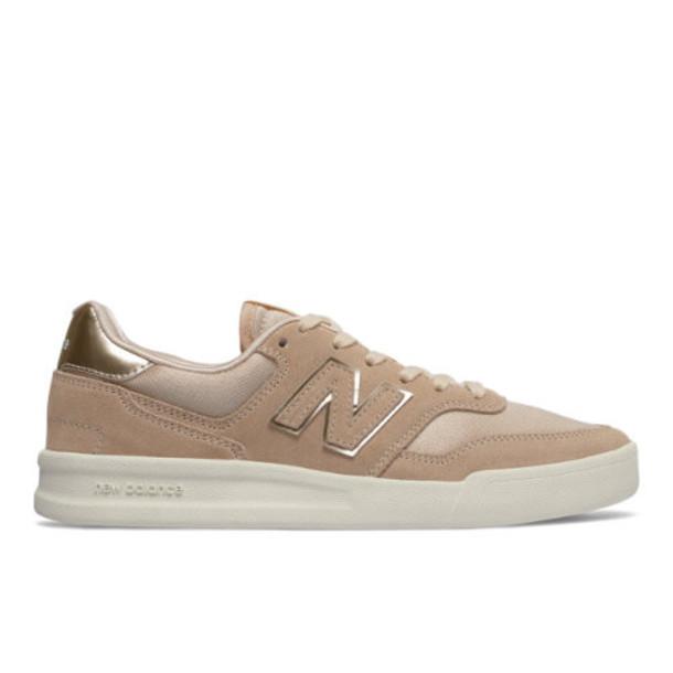 New Balance 300 Women's Court Classics Shoes - Tan/White (WRT300C2)