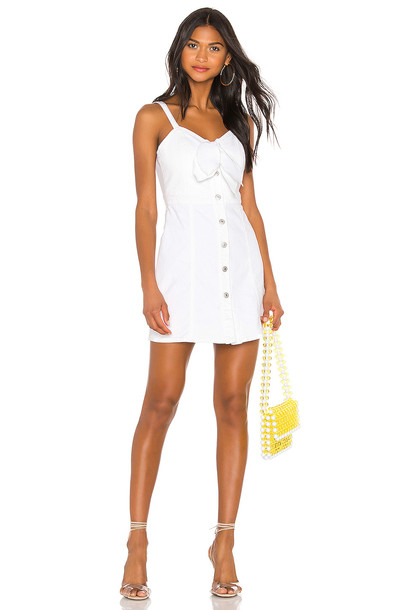 7 For All Mankind Tie Front Dress in white