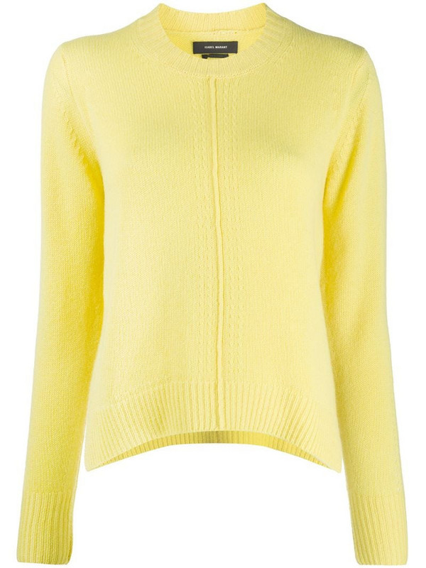 Isabel Marant crew neck jumper in yellow