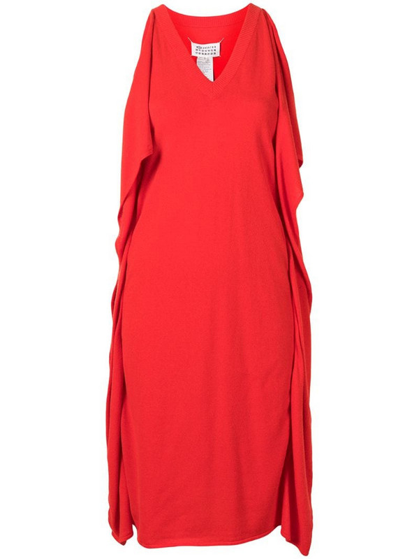 Maison Martin Margiela Pre-Owned ruffled detail dress in red