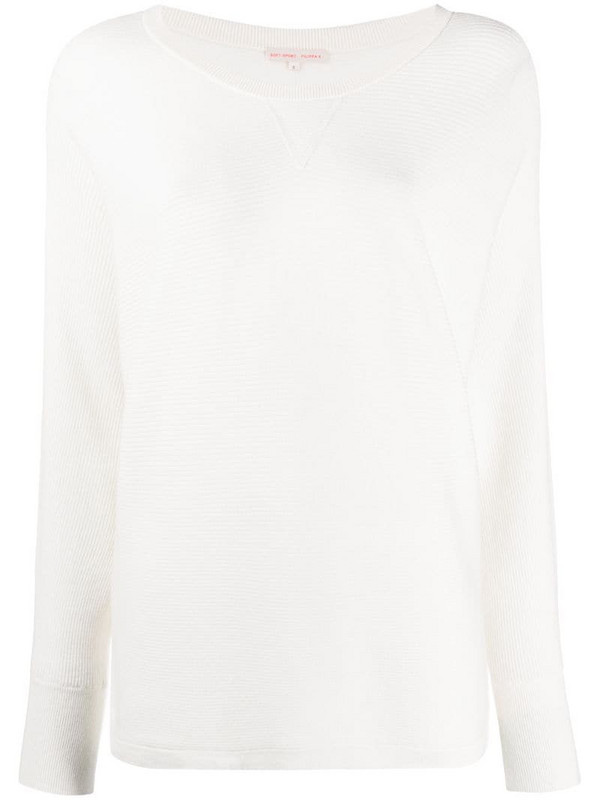 Filippa K Soft Sport warm up ribbed knit jumper in white