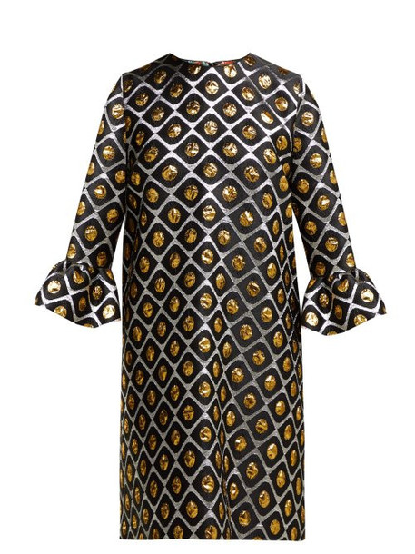 La Doublej - 24/7 Brocade Mini Dress - Womens - Black Gold