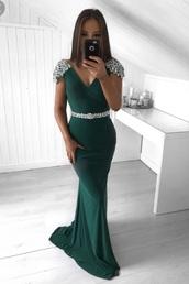 dress,green,green dress,prom dress,debs dress,debs,glitter,belt,emerald green