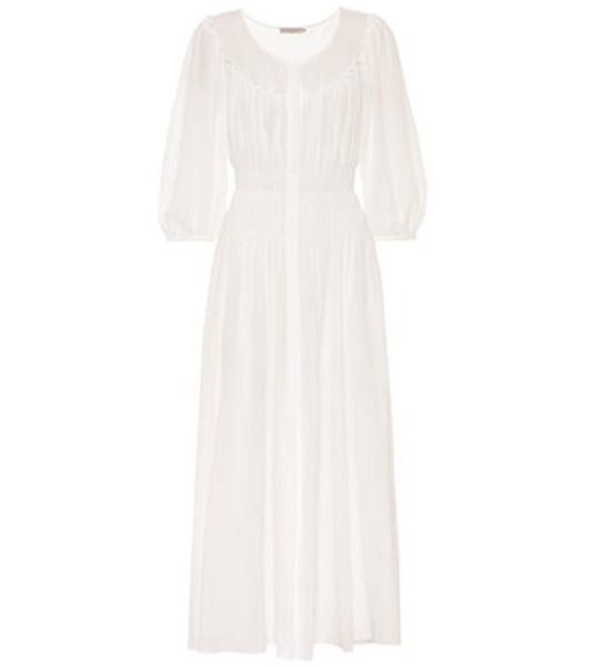 Three Graces London Arabella cotton maxi dress in white