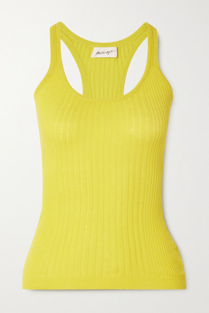 The Line By K - Edie Ribbed Cotton Tank - Yellow
