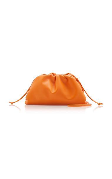 Bottega Veneta Small Soft Leather Clutch in orange