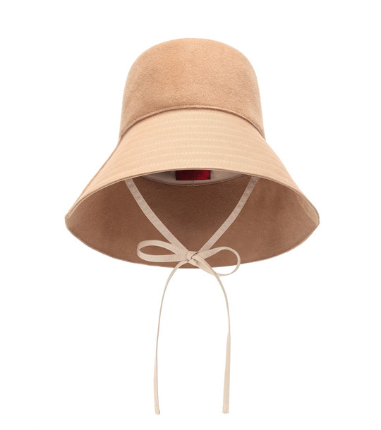Valentino Felt bucket hat in beige