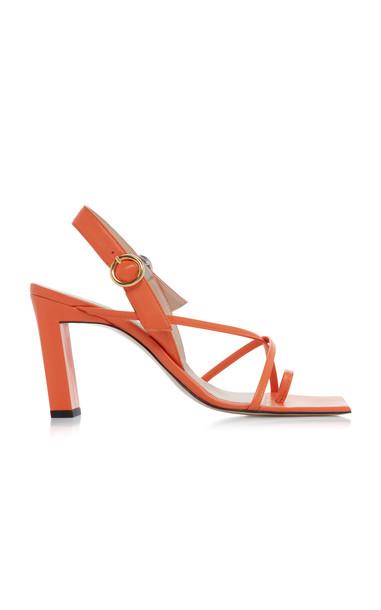Wandler Eliza Strappy Leather Sandals in orange