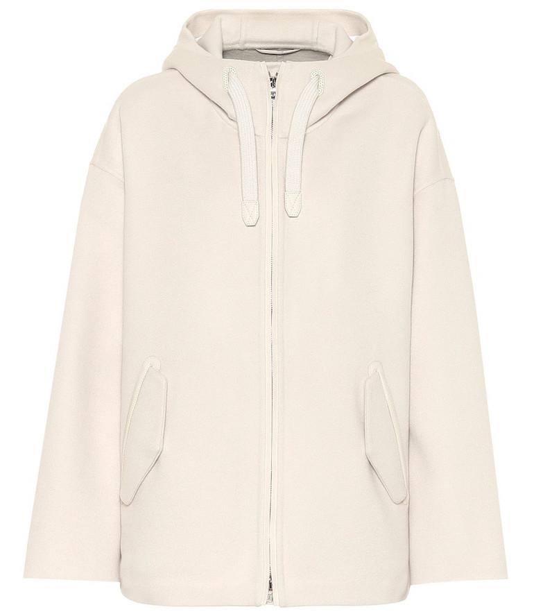 Loro Piana Cashmere coat in white