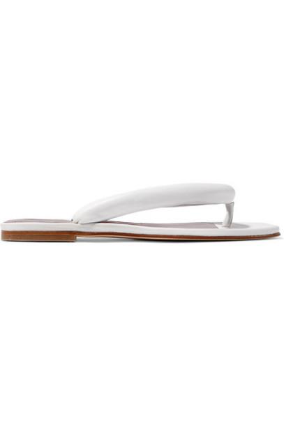 STAUD - Rio Leather Sandals - White