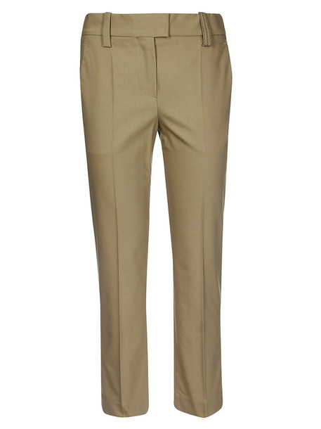 Brunello Cucinelli Cropped Trousers in brown