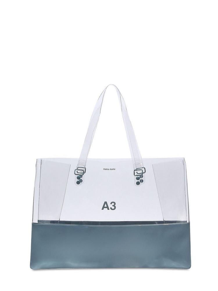 NANA NANA A3 Pvc Shopping Tote Bag in grey / clear