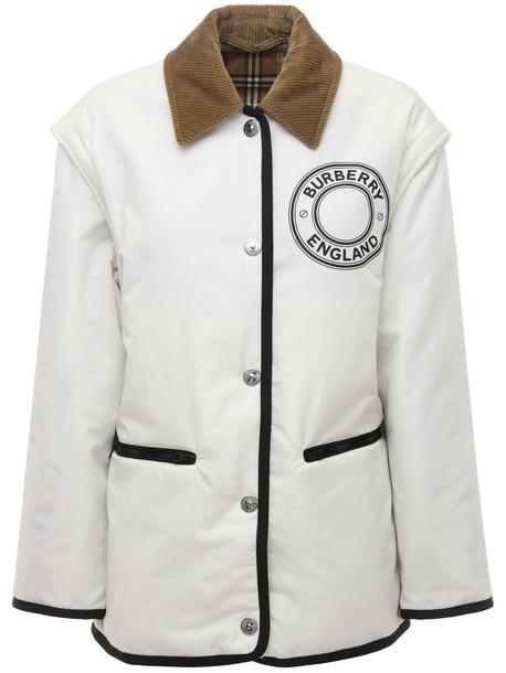 BURBERRY Westcliff Reversible Nylon Jacket W/logo in white