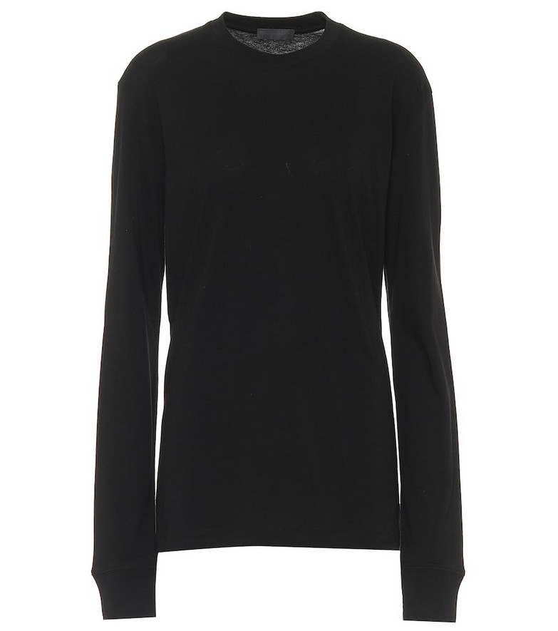 WARDROBE.NYC Release 02 cotton-jersey top in black