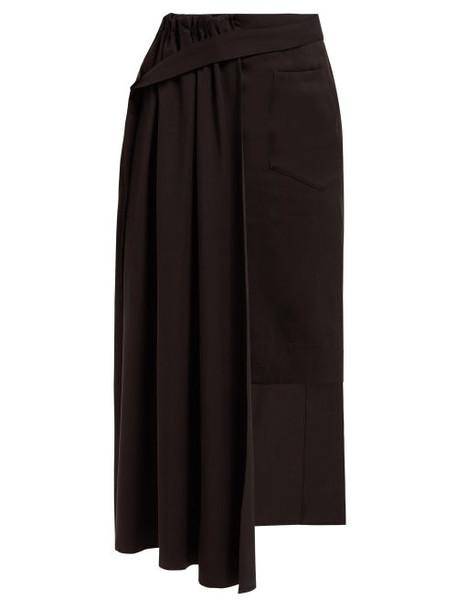 Palmer/harding Palmer//harding - Thrill Asymmetric Twill Skirt - Womens - Black