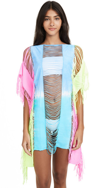 PilyQ Neon Tie Dye Cover Up Dress in multi
