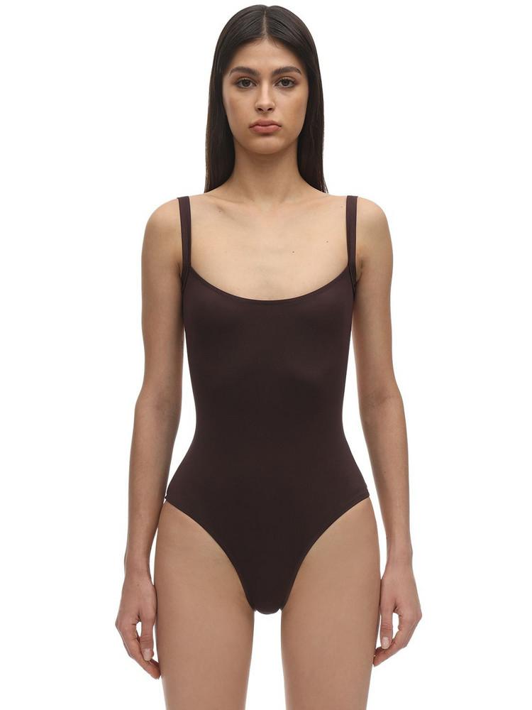 LAURA URBINATI Tilda Lycra One Piece Swimsuit in brown
