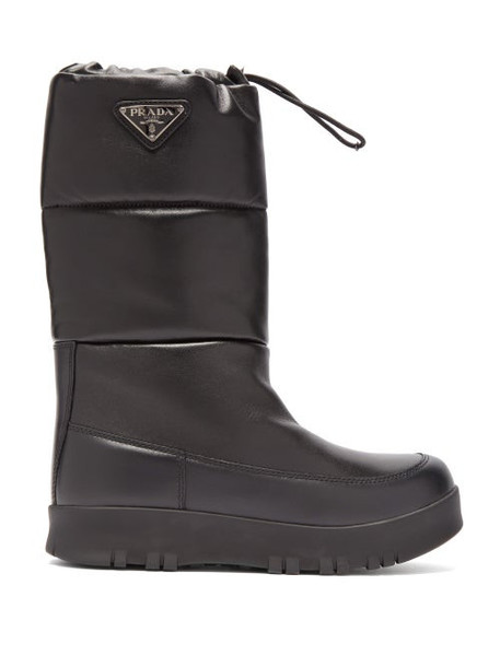 Prada - Nappa Leather Après Ski Boots - Womens - Black