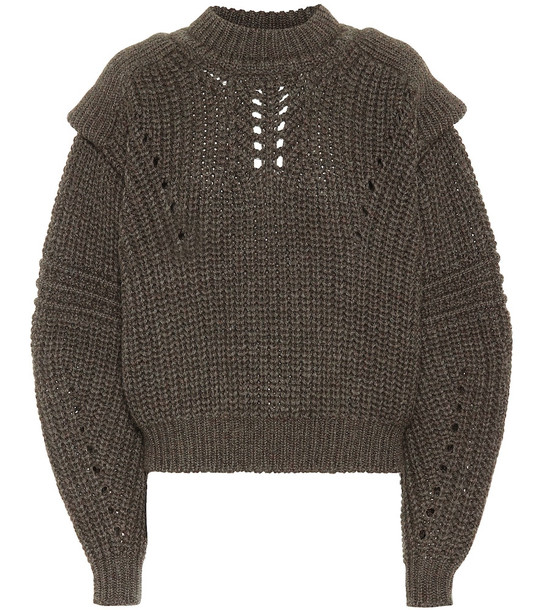 Isabel Marant Kevy wool sweater in green