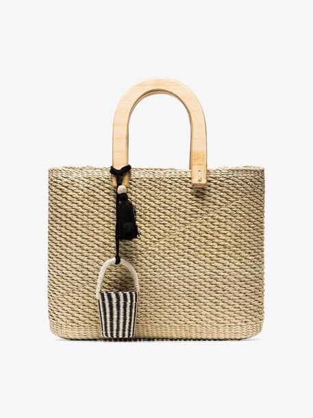 Sensi Studio woven straw tote bag in neutrals