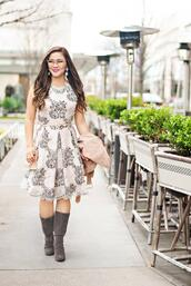 whatever is lovely – a houston life and style blog by lynne gabriel,blogger,dress,jacket,shoes,jewels,bag