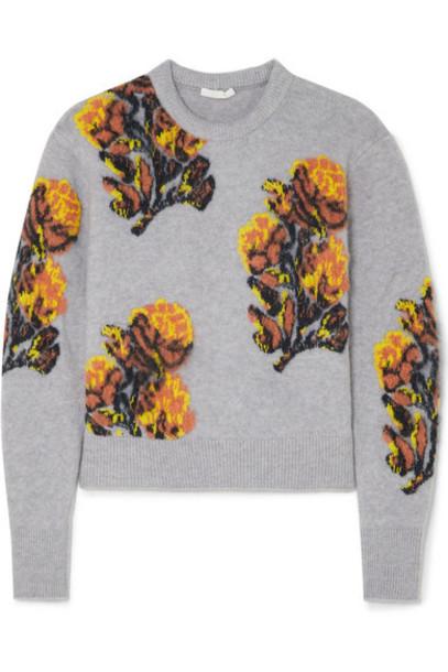 Chloé Chloé - Jacquard-knit Sweater - Lilac