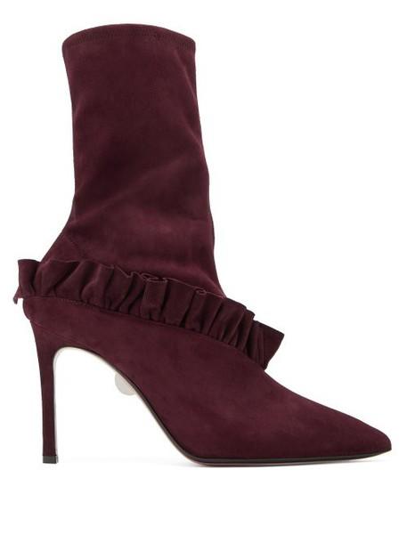 Samuele Failli - Abigail Suede Boots - Womens - Burgundy