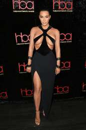 dress,sexy,sexy dress,edgy,kim kardashian,kardashians,celebrity,maxi dress,slit dress,cut-out