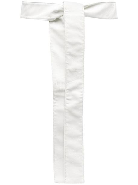 Philosophy Di Lorenzo Serafini tie fastening belt in white