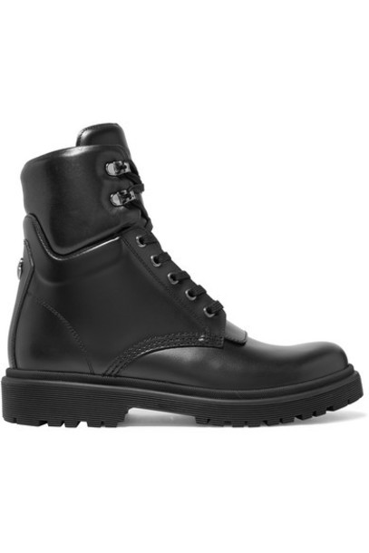 Moncler - Patty Leather Ankle Boots - Black