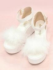 shoes,white shoes,white mule shoes,white pom pom shoes,white mary janes,white platforms,platform mary janes,mary janes,platform shoes
