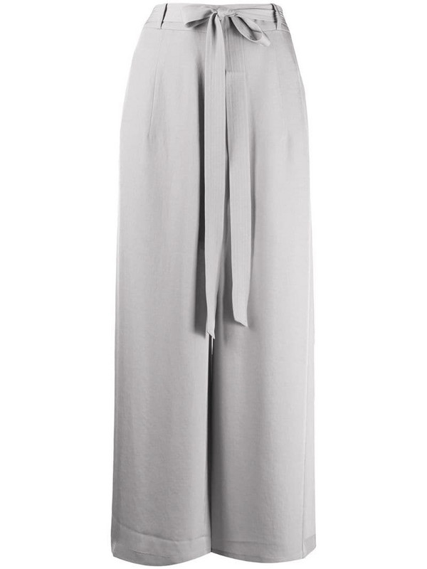 AllSaints high-waisted crepe trousers in grey