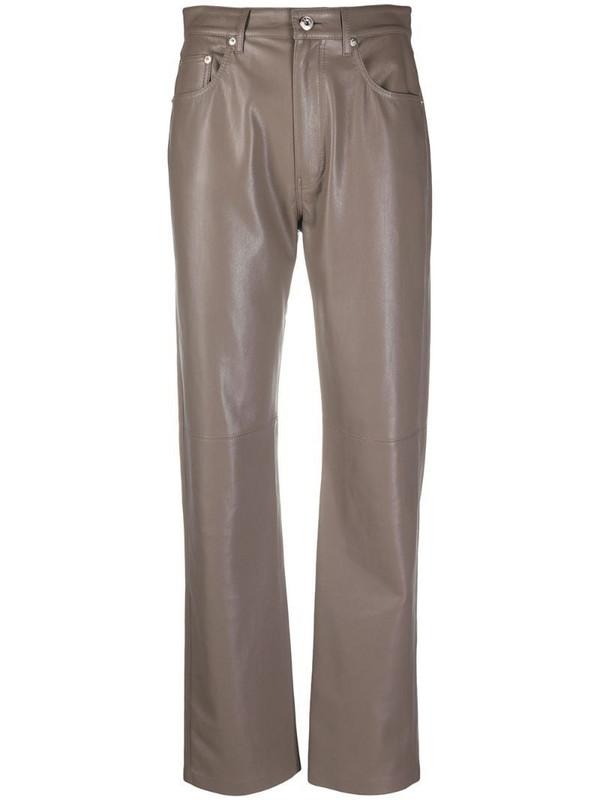Nanushka Vinni straight-leg trousers in grey