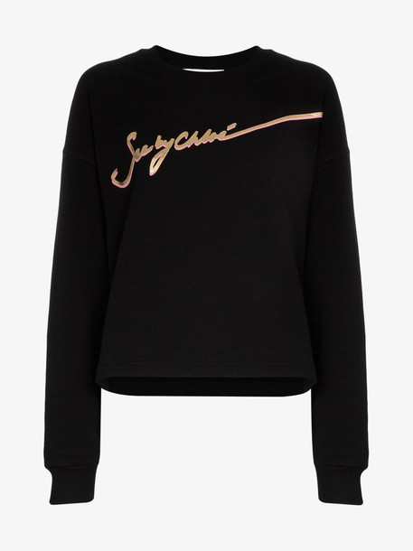 See By Chloé See By Chloé logo cotton jumper in black